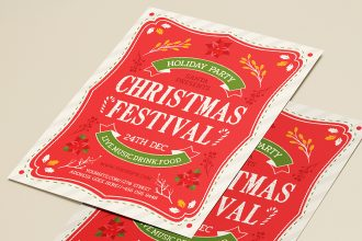 Free Christmas Festival Flyer Templates in PSD + Vector (.ai+.eps)