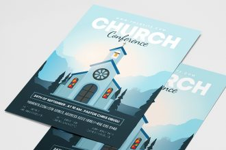 Free Church Conference Flyer Templates in PSD + Vector (.ai+.eps)