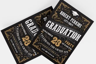Free Graduation Invitation Templates in PSD + Vector (.ai+.eps)