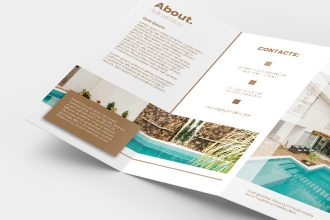 Free Hotel Tri-fold Brochure Template in PSD + Vector (.ai+.eps)