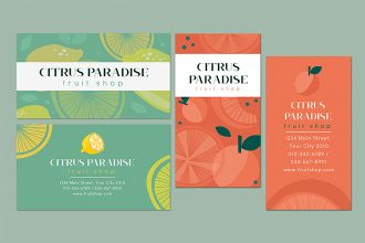 Free Fruit Shop business card Template in PSD + Vector (.ai, .eps)