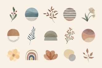 Free watercolor stories Highlights Template in PSD