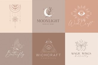 Free Magic Logo Set Template in PSD + Vector (.ai+.eps)