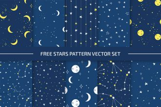 Free Stars Pattern Set in EPS + PSD
