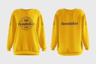 Free Women's Sweatshirt Mockups in PSD