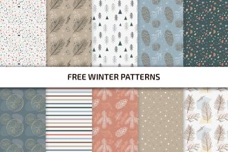 Free Winter patterns Template in PSD + Vector (.ai+.eps)