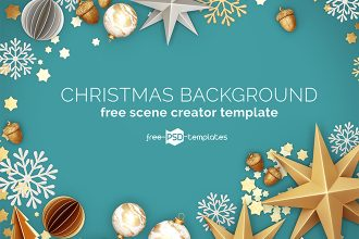 Free Christmas Background Scene Creator Template