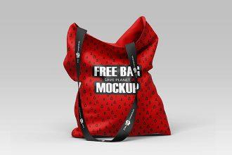Free Bag Mockup in PSD