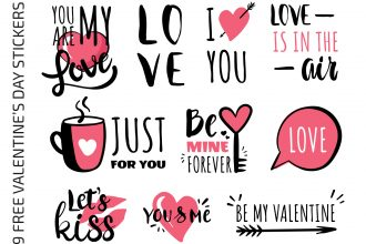 Free Valentine's Day Stickers Templates in EPS + PSD