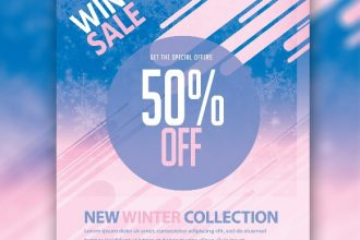 Free Winter Sale Flyer Template