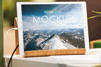 Top 30 Free and Premium iPad Mockups in PSD