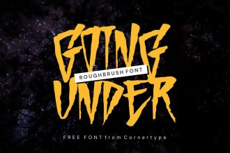 Free Going Under Typeface