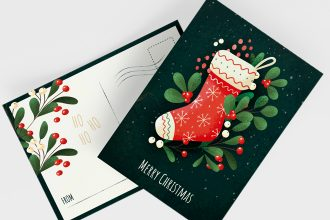 Free Christmas Postcard Templates in PSD + EPS