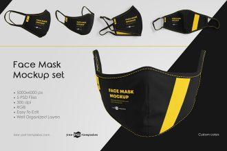 Face Mask Mockup Set