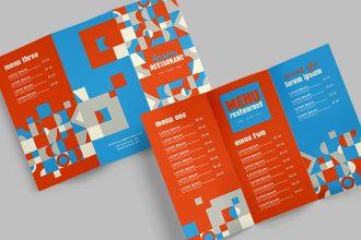 Free Menu Trifold Brochure in PSD + Vector (.ai .eps)