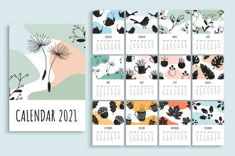 Free Calendar 2021 Templates in PSD + Vector (.ai+.eps)