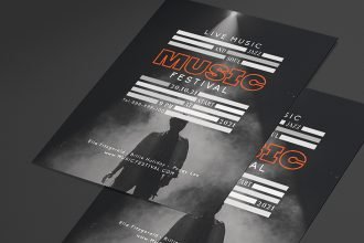 Free Music Flyer Template in PSD + Vector (.ai, .eps)