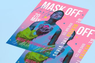 Free Mask Off Party Flyer Template in PSD