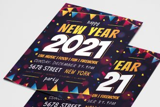 Free New Year Flyer Templates in PSD + Vector (.ai+.eps)