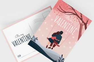 Free Valentine's Day Postcard Templates in PSD + EPS