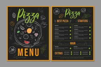 Free Pizza menu Template in PSD + Vector (.ai, .eps)