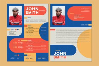 Free CV Resume Cover Letter Template in PSD + Vector (.ai )
