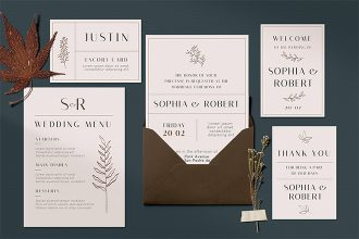 Free Wedding Invite Template in PSD + Vector (.ai, .eps)