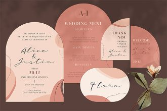 Free Wedding Invitation Template in PSD + Vector (.ai, .eps)