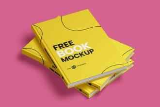 Free Book Mockups in PSD