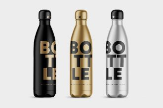Free Bottle Mockups in PSD