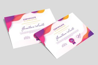 Free Certificate Template in PSD + Vector (.ai+.eps)