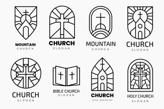 Free Church Logos Templates in EPS + PSD