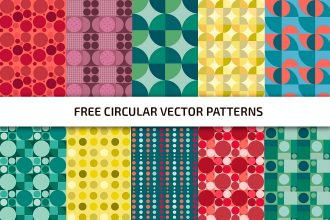 Free Circular Patterns Template in PSD + Vector (.ai+.eps)