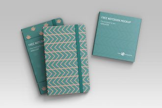 Free Notebook Mockup in PSD