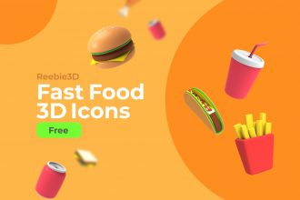 Free Fast Food 3D Icons