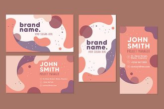 Free abstract business card Template in PSD + Vector (.ai, .eps)