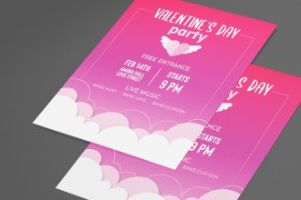 Free Valentine Day Flyer in PSD + Vector (.ai, .eps)