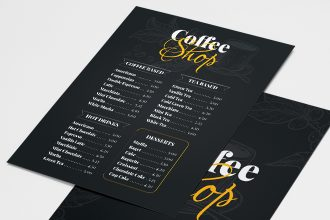Free Coffee Shop Menu Templates in PSD + Vector (.ai+.eps)