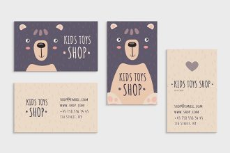 Free Kids Toys Shop Business Card Templates in PSD + Vector (.ai+.eps)
