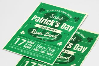 Free St. Patrick's Day Poster Templates in PSD + Vector (.ai+.eps)