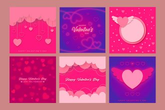 Free Valentine's Day BG Template in PSD + Vector (.ai+.eps)