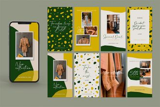 Free Brand Stories Template in PSD