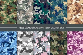Free Camouflage Day Pattern Set in EPS + PSD