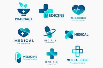 Free Medicine Logos Templates in EPS + PSD