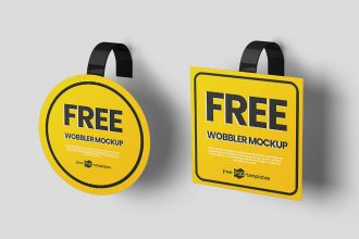 Free Wobbler Mockups in PSD