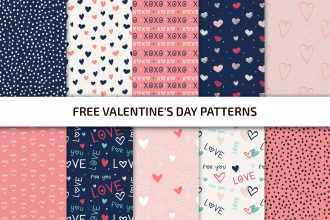 Free Valentine's Day Patterns Template in PSD + Vector (.ai+.eps)