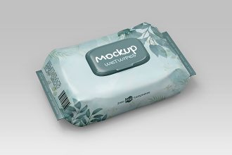 Free Wet Wipes Mockup Template in PSD