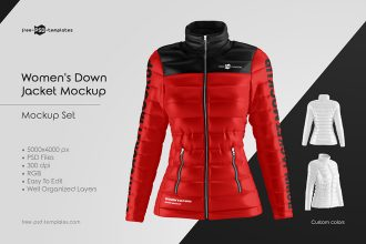 Women's Down Jacket Mockup Set