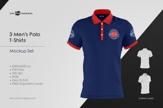 Men's Polo T-Shirts MockUp Set