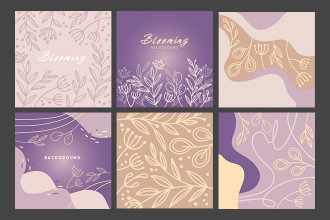 Free Floral BG Template in PSD + Vector (.ai+.eps)